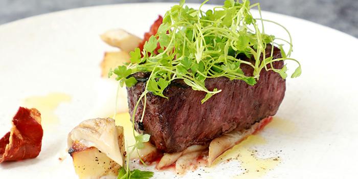 Lunch of Steak House located on Weihai Lu, Jing