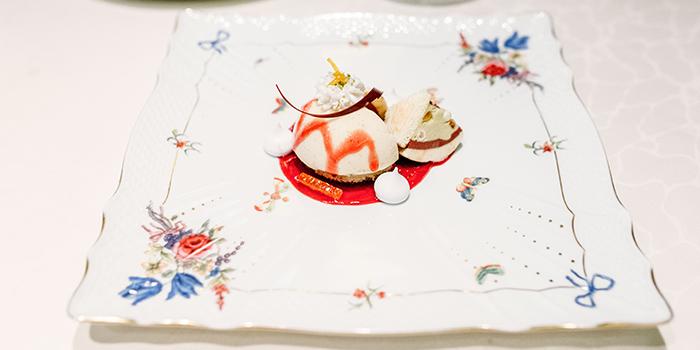 Dessert of 8 1/2 Otto e Mezzo Bombana located on the Bund, Shanghai