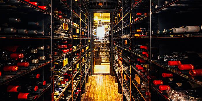 Wine Cellar of 8 1/2 Otto e Mezzo Bombana located on the Bund, Shanghai