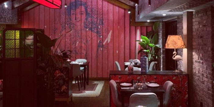 Indoor of Xixi bistro located in Huangpu, Shanghai