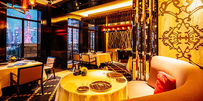 Indoor of 8 1/2 Otto e Mezzo Bombana located on the Bund, Shanghai