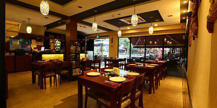 Interior of Kebabs On The Grille on Zhongshan Nan Lu in The Bund, Shanghai, China