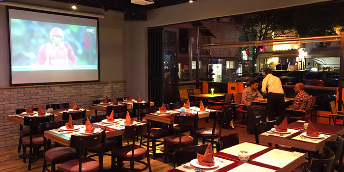 Indoor of Kebabs On The Grille Indian Cuisine (Laowaijie) located in Minhang, Shanghai