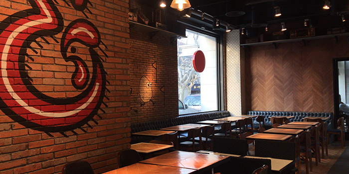 Indoor of Chicken and Egg located on Xuhui, Shangha