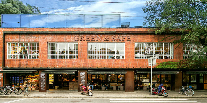 Exterior of Green & Safe (Dongping Lu) located in Xuhui, Shanghai
