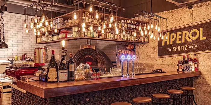 Bar of D.O.C Gastronomia Italiana in Jing