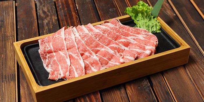 Beef from Qimin Organic Hotpot Marketplace (Takashimaya) located in Changning, Shanghai