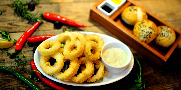 Calamari from Pera Turkish Restaurant & Bar located on Julu Lu, Huangpu District, Shanghai, China