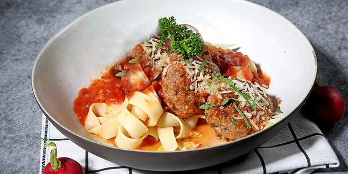 Meatball Pasta of WORLD OF BEER (Fumin Lu) located in Jing