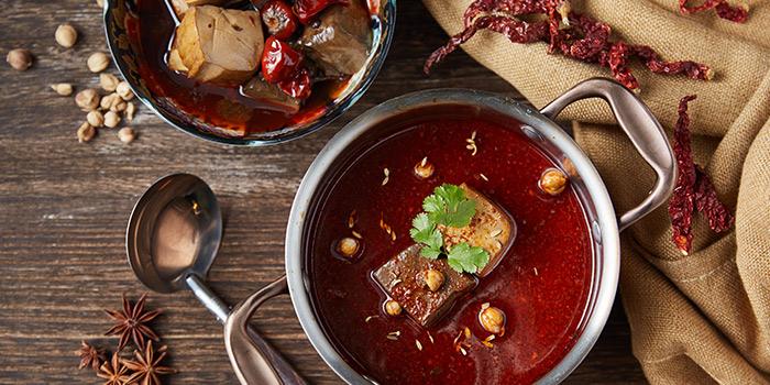 Spicy Broth from Qimin Organic Hotpot Marketplace (Hengshan Lu) located in Xuhui, Shanghai