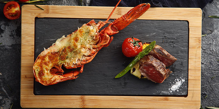 Steak and Lobster from Yue 6 Cuisine & Lounge located in Huangpu, Shanghai
