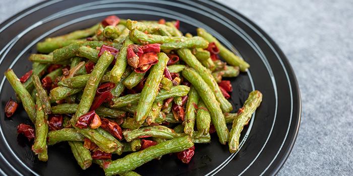 Wok Fried Green Beans from Xibo located on Changshu Lu, Jing