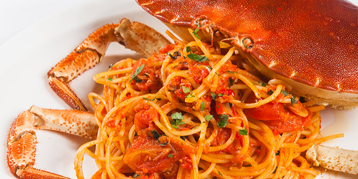 Spaghetti with Crab of CASANOVA located on the bund 6, Huangpu District, Shanghai, China