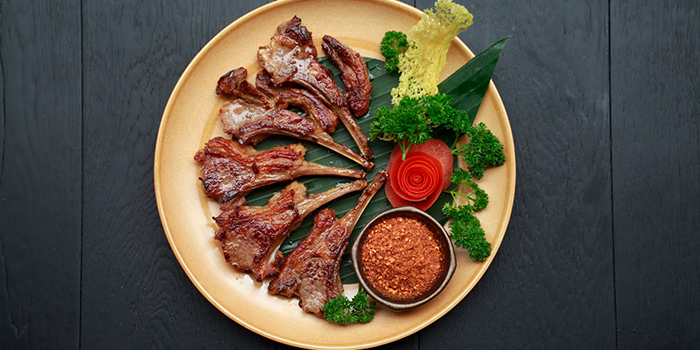 Grilled Lamb Rack from Gathering Clouds located in Changning, Shanghai