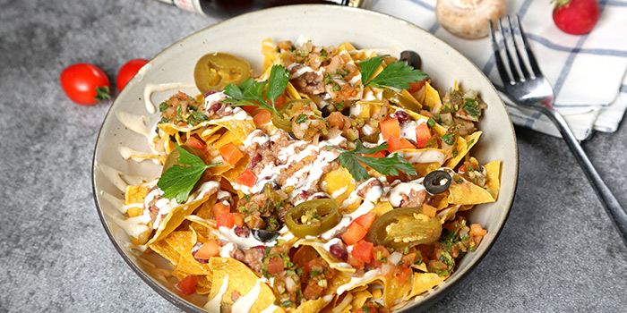 Nacho of WORLD OF BEER (Century Link Mall) located located in Pudong, Shangha
