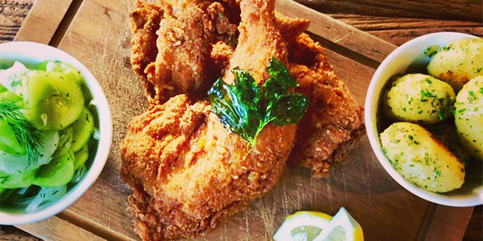 Fried Chicken of Zeitgeist located on Haifang Lu, Jing