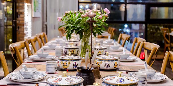 Large Table of Yasmine's Hotpot (Biyun Lu) located in Pudong, Shangha,