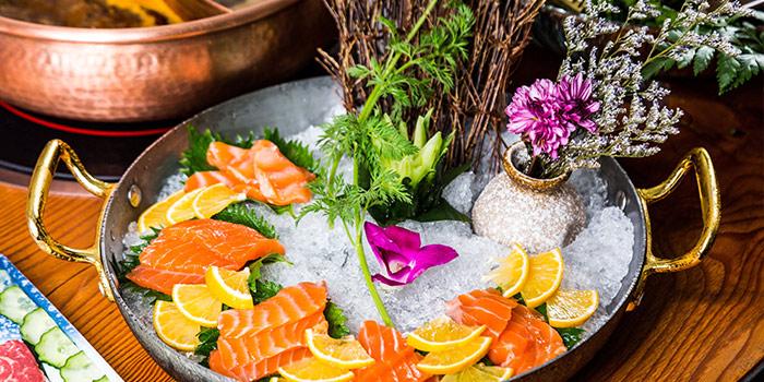 Salmon of Meat of Food of Yasmine's Hotpot (Xiangyang Lu) located in Xuhui, Shanghai