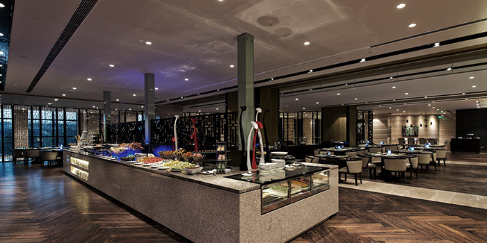 Indoor of Savor All Day Dining Restaurant (Pullman Hotel Shanghai South) located in Xujiahui, Shanghai