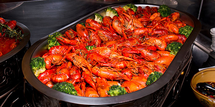 Steamed Crayfish from Elements in Grand Kempinski Hotel Shanghai, Pudong, Shanghai