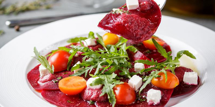 Carpaccio with Red Beetroot and Feta Cheese of Bohemia Original Beer Restaurant located in Xuhui, Shanghai