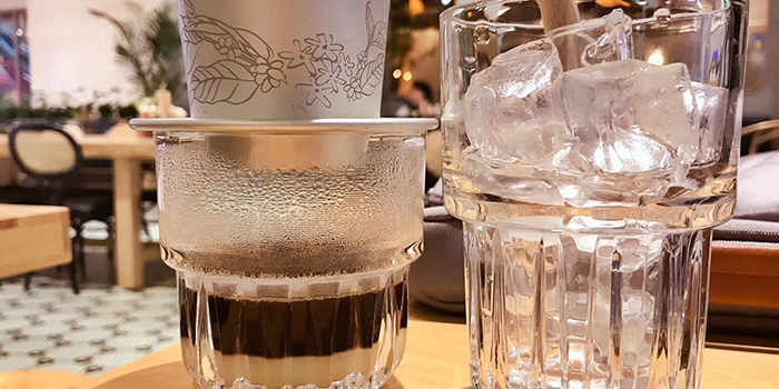Coffee of BUN Cha Cha located in Huangpu, Shanghai