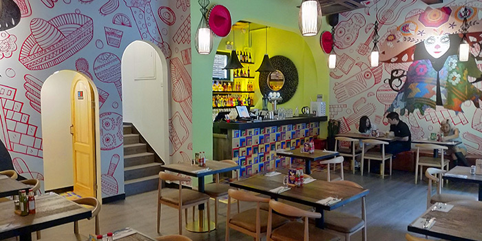 Indoor of Pistolera Mexican Cantina (Laowai Jie) located in Minhang, Shanghai