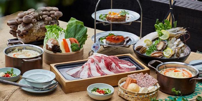 Hotpot of Qimin Organic Hotpot Marketplace (Hengshan Lu) located in Jing