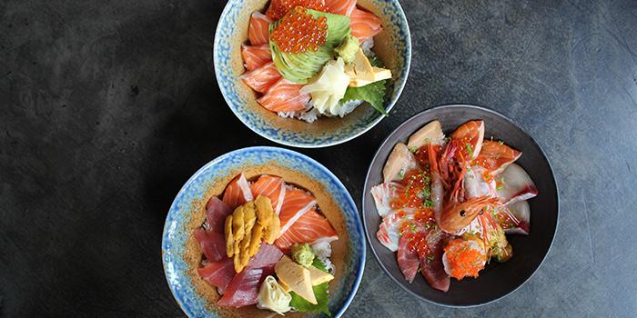 Sushi bowls from Sushi Raku located in Jing