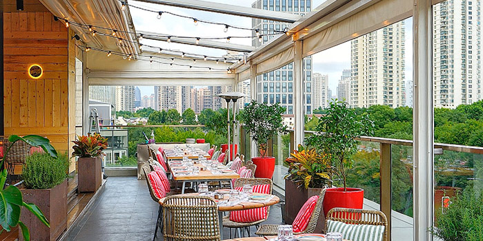 Terrace of TOMATITO located in Huangpu, Shanghai