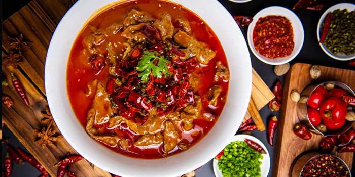 Beef of SPICY SPOT located Xuhui, Shanghai.