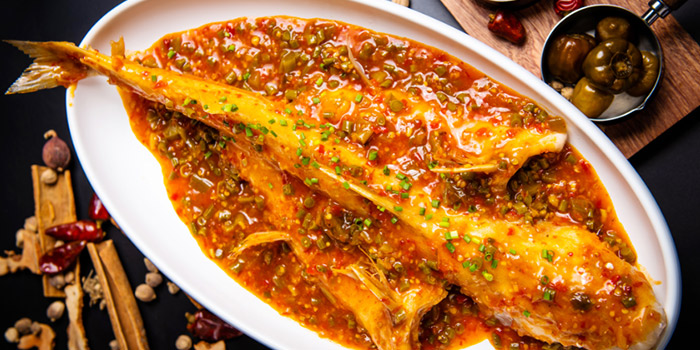Fish of SPICY SPOT located Xuhui, Shanghai.