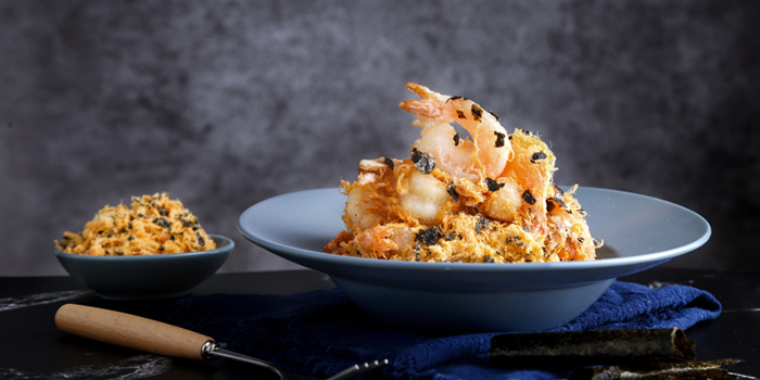 Deshelled Prawns with Pork Floss & Seaweed from JUMBO Kitchen (Raffles City) located in Huangpu, Shanghai