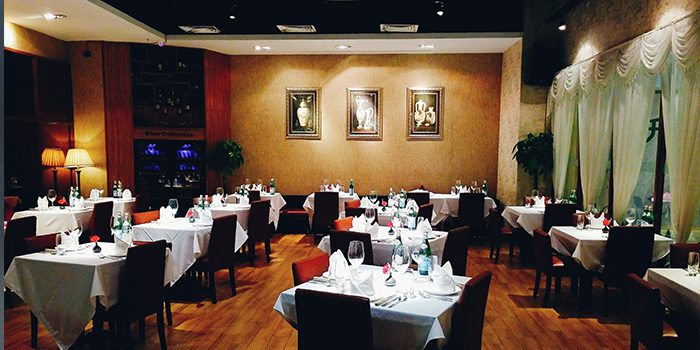 Indoor of Jstone. Steak House located in Pudong, Shanghai