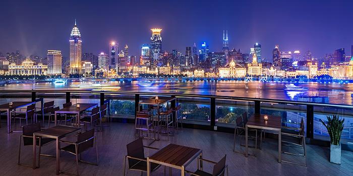 Terrace of eat n work located in Lujiazui, Pudong, Shanghai