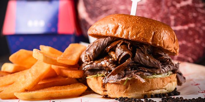 Beef Burger of Prime Rib Eye located in Lujiazui, Shanghai