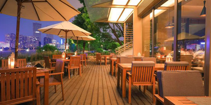 Outdoor of TAVOLA Dining located in Pudong, Shanghai