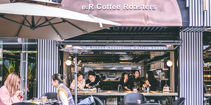 Outdoor of e.R Coffee Roasters located Jing