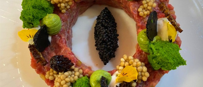 Beef Tartare of Kafer by The Binjiang One located in Pudong, Shanghai