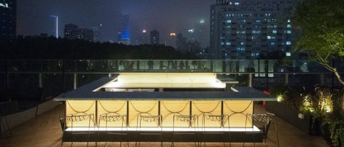 Terrace of Hatsune (IAPM) located on Huaihai Zhong Lu, Xuhui, Shanghai