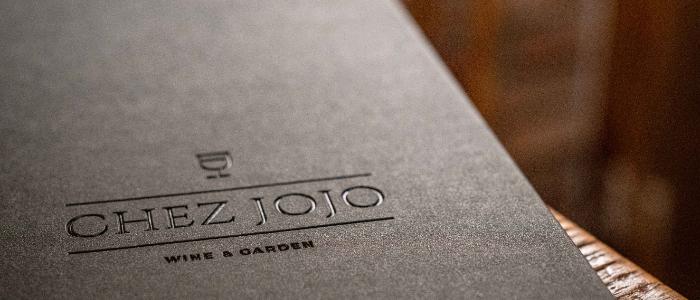 Menu of Chez JOJO located along in Xuhui, Shanghai
