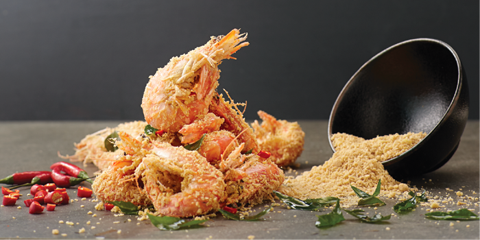 Cereal Prawns from Jumbo Seafood (IAPM) located in Xuhui, Shanghai
