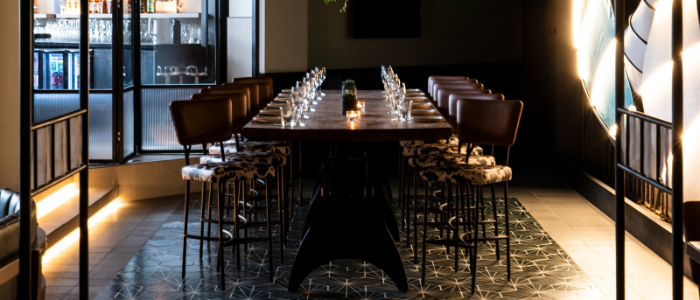 Indoor of THE CUT Restaurant & Bar located in Pudong District, Shanghai