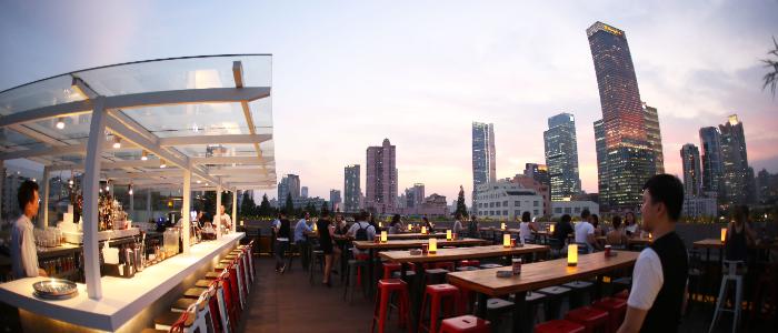 Terrace of Kartel Wine Bar in Jing