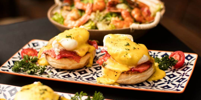 Eggs Benedict of PERCH·WINE·COCKTAILS located in Jing
