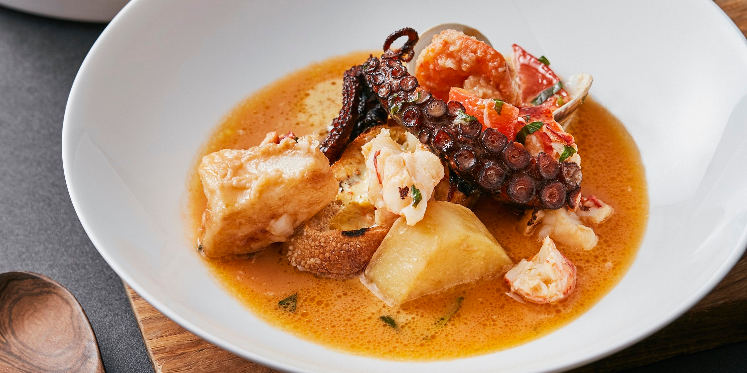 La bouillabaisse of Phenix Eatery and Bar located in Jing