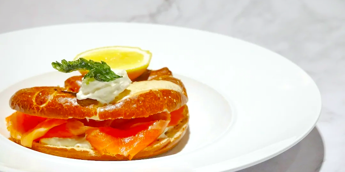 Pretzel with Salmon of Da Marco located on Dongzhu